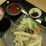 本日の日替わり『鰯の天ぷら 梅肉出汁』