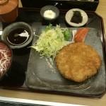 本日の日替わり『豆腐のわらじコロッケ』
